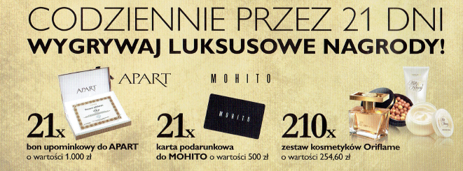 Nagrody od Oriflame
