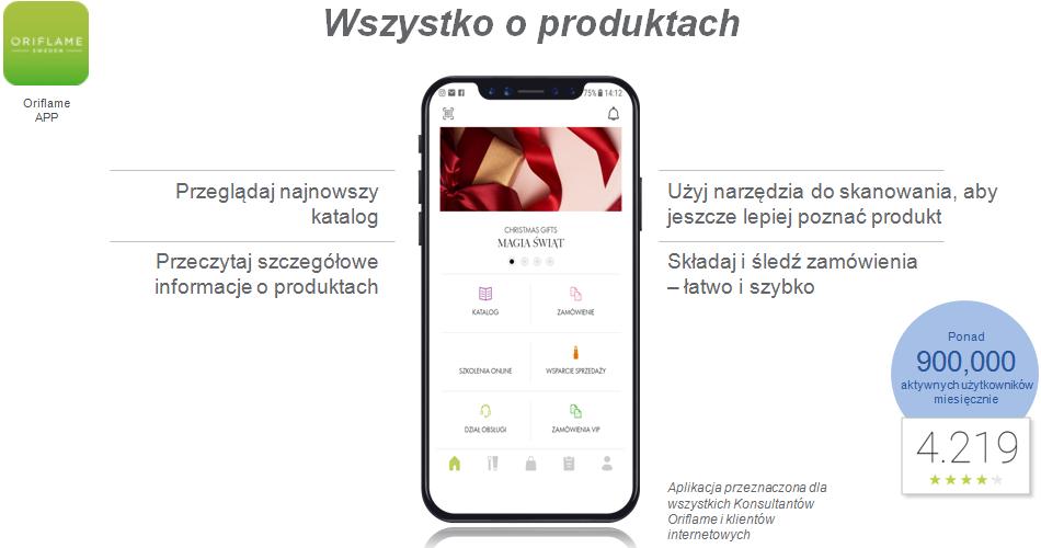 Aplikacja Oriflame App