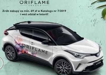 Loteria Oriflame katalog 7 2019 - samochód toyota