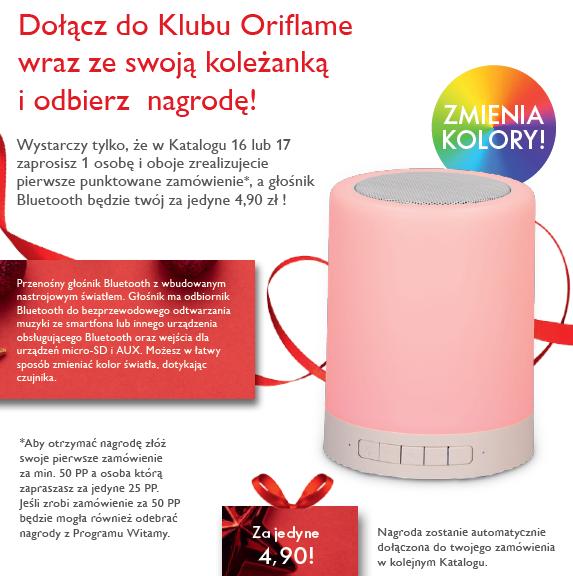 Głośnik Bluetooth z Oriflame
